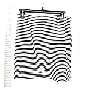 Cynthia Rowley B&W striped mini skirt
